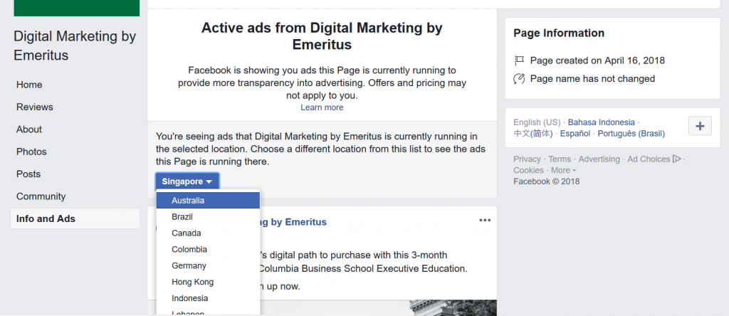 facebook active ads